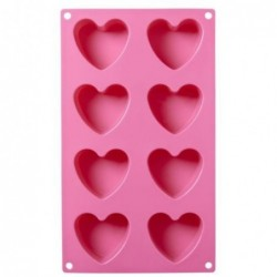 Moule silicone petits coeurs - Rice - rose