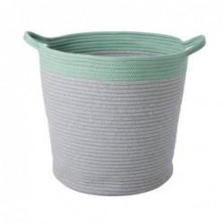 Corbeille textile - XL - Rice - Grise et verte