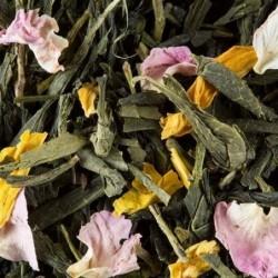 Thé vert parfumé - Damman Frères - Pêche - 100g