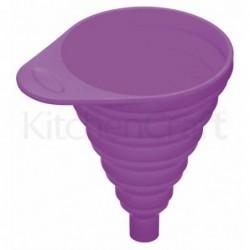 Entonnoir pliant en silicone - colourworks - Kitchen Craft - violet