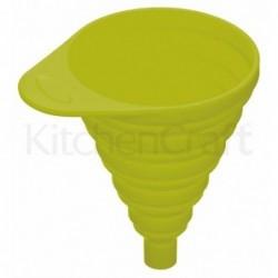Entonnoir pliant en silicone - colourworks - Kitchen Craft - Vert