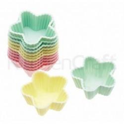Lot de 12 mini-caissettes cupcake - étoiles - kitchencraft