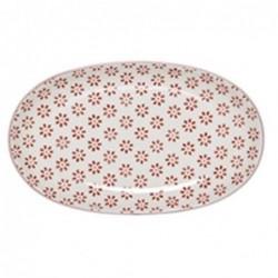Plat oval Susie - Bloomingville - Fleurs rouges