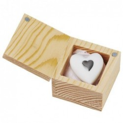 Coeur argenté - Porte-bonheur - porcelaine - Rader
