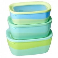 Boites alimentaires rectangulaires - Rice - Lot de 3 - Green