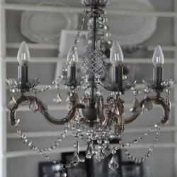 Chandelier prismes gris - Chic Antique