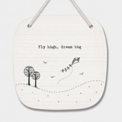 Plaque décorative en porcelaine - East of India - Fly high