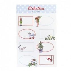 Planche d'étiquettes cadeaux - Krima et Isa - Noël