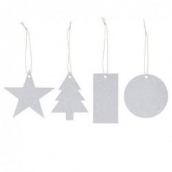 Lot de 8 étiquettes cadeaux - Bloomingville - Mix silver