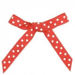Ruban papier cadeau - Krima et Isa - Rouge pois blanc - 2m50