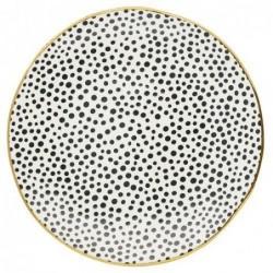 Grande assiette - Greengate - Dot black gold
