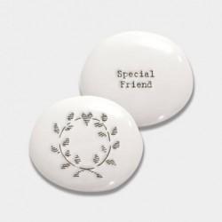 Galet de porcelaine - East of India - Special friend