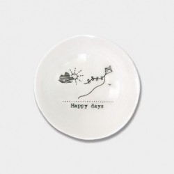 Coupelle miniature en porcelaine - East of India - Happy days