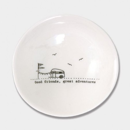 Coupelle porcelaine - East of India - Good friends