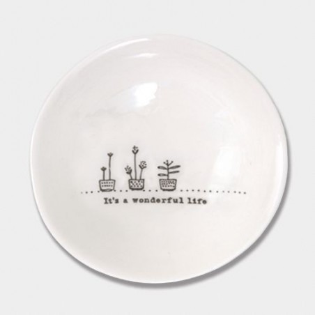 Coupelle porcelaine - East of India - Wonderful life