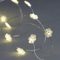 Guirlande lumineuse LED - Sirius - Nynne - Flocon -  40 LED - Silver