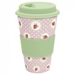 Travel Mug - Greengate - Strawberry pale pink