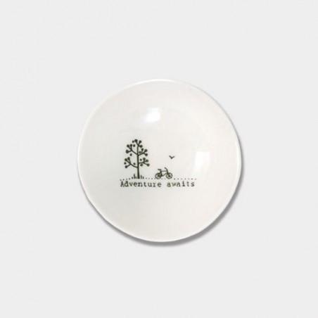 Coupelle miniature en porcelaine - East of India - Aventure awaits