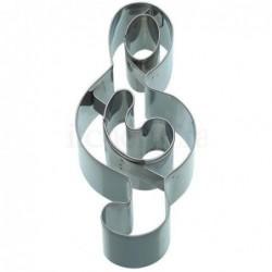 Emporte-piece - cle de sol - 12 cm - metal
