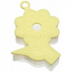 Emporte-piece - relief 3D - fleur - jaune