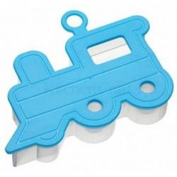 Emporte-piece - relief 3D - train - bleu