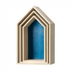 Lot de 3 Etagères maison - Bloomingville - Bleu