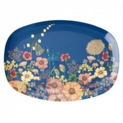 Assiette rectangulaire Mélamine - Plateau Rice -  Flower collage
