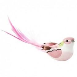 Oiseau à clip - Rice - Rose