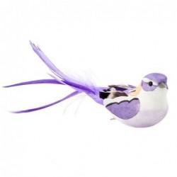 Oiseau à clip - Rice - Mauve