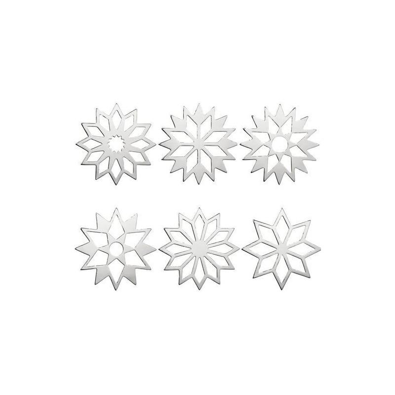 Lot de 6 étoiles décoratives - Rader - Argent