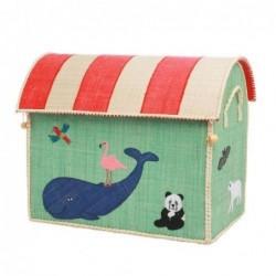 Maison Range jouet - Rice - Animal - Moyen Modèle