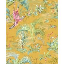 Papier peint Pip Studio - Palm Scene Yellow - ref 300143