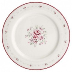 Grande assiette - Greengate - Flora white