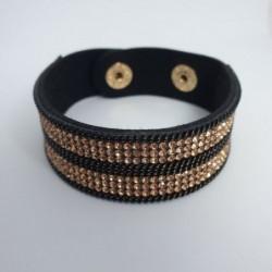 Bracelet pailleté cuivre en cuire synthétique - Nusa Dua