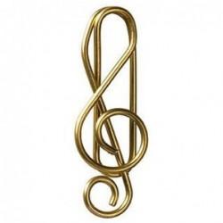 Lot de 15 trombones - Clef de sol dorée -  Rader