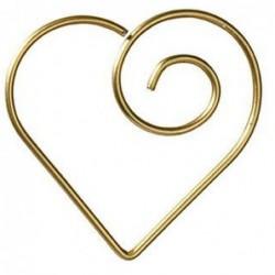 Lot de 15 trombones - Coeur doré -  Rader