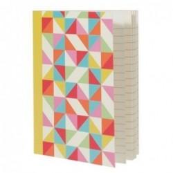 Carnet de poche A5 - Multicolour geometric - Rex