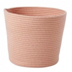 Corbeille textile - L - Rice - Corail