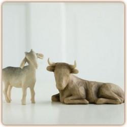 Willow Tree - Ox and Goat - Boeuf et Chèvre pour crèche
