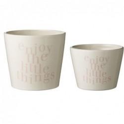 lot de 2 Pots de fleur- Bloomingville - Enjoy the little think