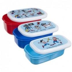 Lot de 3 boites alimentaires - pirates - Tyrrell Katz