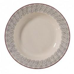Assiette a soupe Karine - Bloomingville - Gris - 25cm