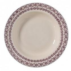 Assiette a soupe Karine - Bloomingville - Violet - 25cm