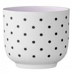 Photophore - Bloomingville - blanc violet black dots shook