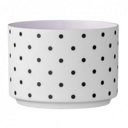 Photophore - Bloomingville - blanc violet black dots stretch