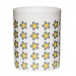 Photophore - Bloomingville - mosaïque fleurs moutarde