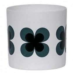 Photophore - Bloomingville - fleurs noires et vertes