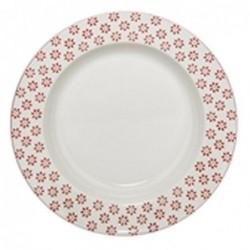 Assiette a soupe Susie - Bloomingville - Fleurs rouges - 25cm
