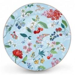 Assiette de présentation - Floral 2 - Hummingbirds bleu - Pip Studio - 32 cm