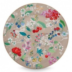 Assiette de présentation - Floral 2 - Hummingbirds kaki - Pip Studio - 32 cm